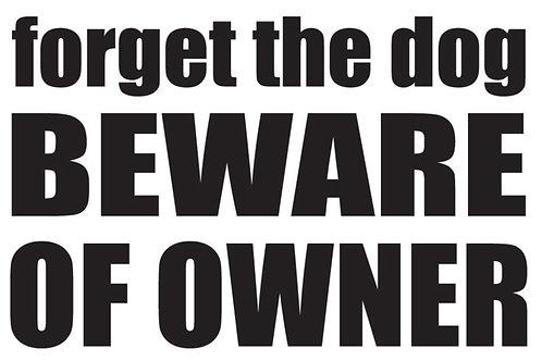 BEWARE OF THE OWNER Gun Decal Sticker