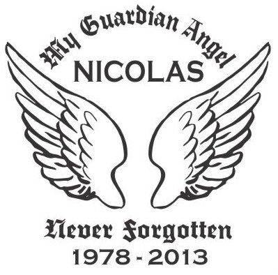 My guardian angel wing 2 Decal Sticker