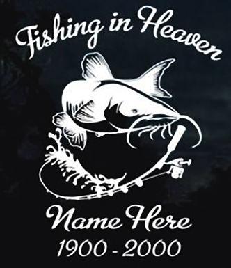 Fishing in heaven catfish Decal Sticker