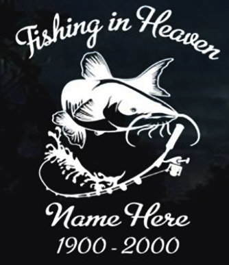 Fishing in heaven catfish Decal Sticker