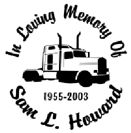 In loving memory of semi tractor trailer Decal Sticker