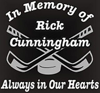 In memory of hockey Decal Sticker
