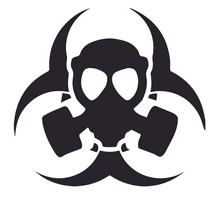 Biohazard Alien Mask Rebel Decal Sticker