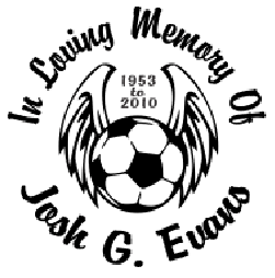 In loving memory of soccer ball Decal Sticker