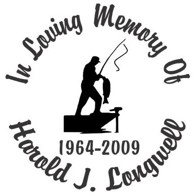 In loving memory of bass fisherman Decal Sticker