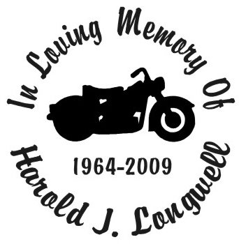 In loving memory of motorcycle bike Decal Sticker