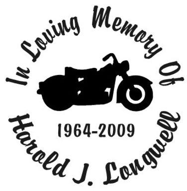 In loving memory of motorcycle bike Decal Sticker