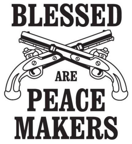 BLESSED ARE THE PEACE MAKERS Gun Decal Sticker