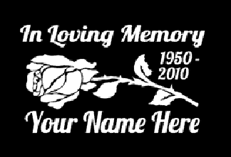 In loving memory of rose flower mom Decal Sticker