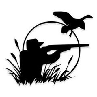 Duck Hunting Up at Dawn Decal Sticker