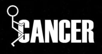 FUCK CANCER Stick Man Fuck It Decal Sticker