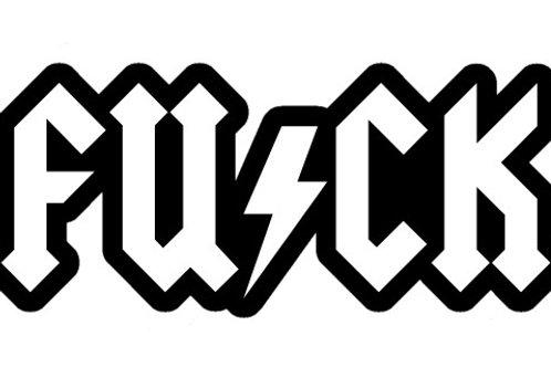 FUCK Decal Sticker AC-DC STYLE