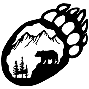 MOUNTAIN Bear Claw Decal Sticker