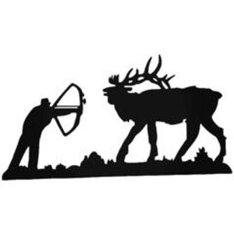 BOW HUNTER Elk Hunting Decal Sticker