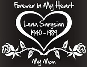 Forever in my heart roses heart Decal Sticker