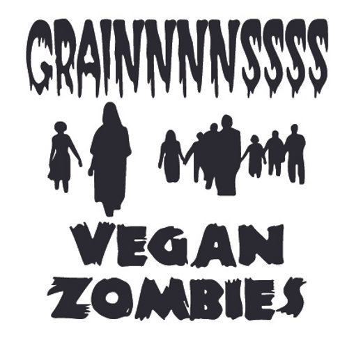 Grains - VEGAN ZOMBIES Decal Sticker
