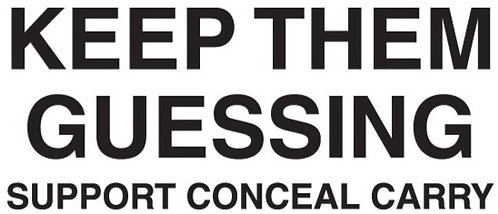 KEEP THEM GUESSING Conceal Gun Decal Sticker