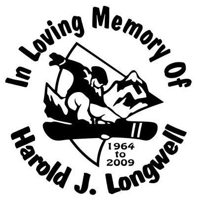 In loving memory of snow boarding Decal Sticker