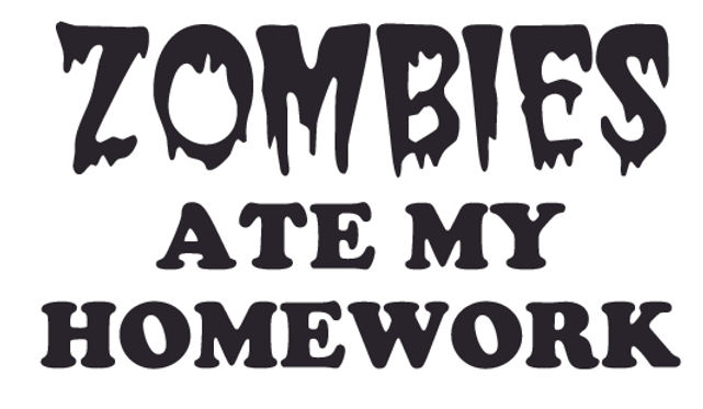 ZOMBIES ATE MY HOMEWORK Decal Sticker