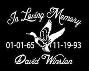 In loving memory duck Decal Sticker