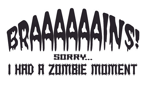 BRAAAAAAINS! Sorry I had a moment Zombie Decal Sticker