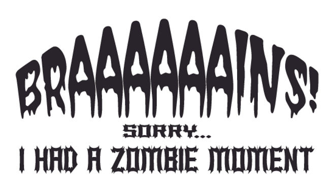 BRAAAAAAINS! Sorry I had a moment Zombie Decal Sticker