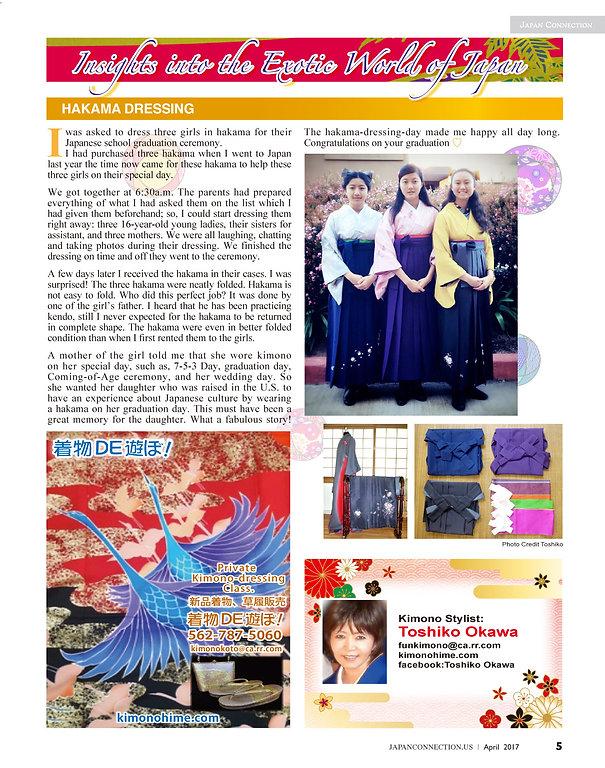 Japan connection Toshiko Okawa April 201