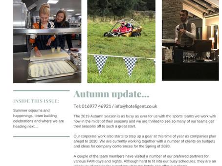 Hoteligent Hub Autumn 2019 newsletter -  Autumn update