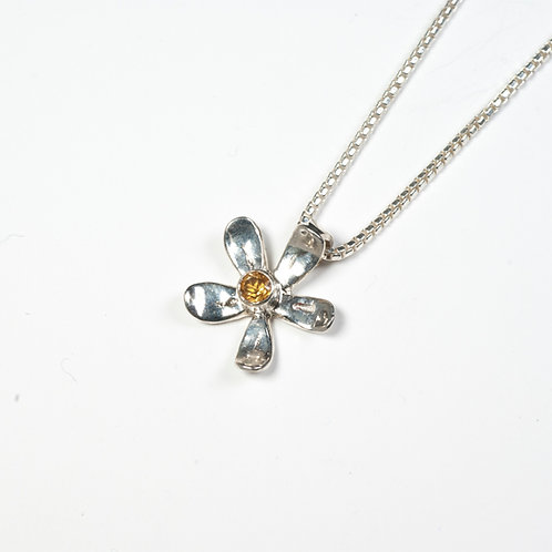 Daisy Necklace with Citrine