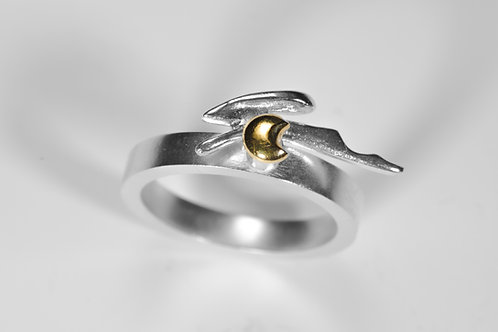 Hare Over the Moon Ring