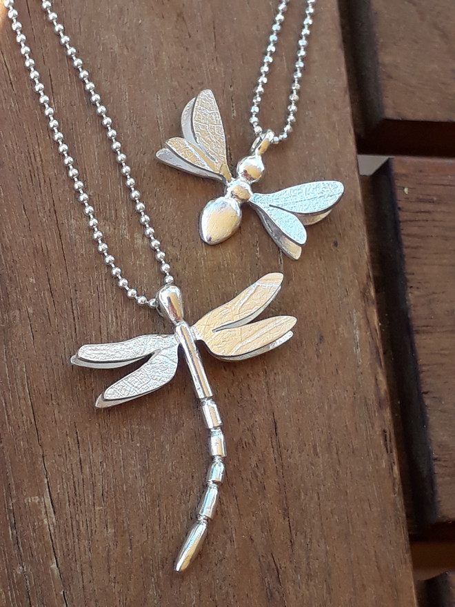 Dragonfly and Bumblebee Pendants