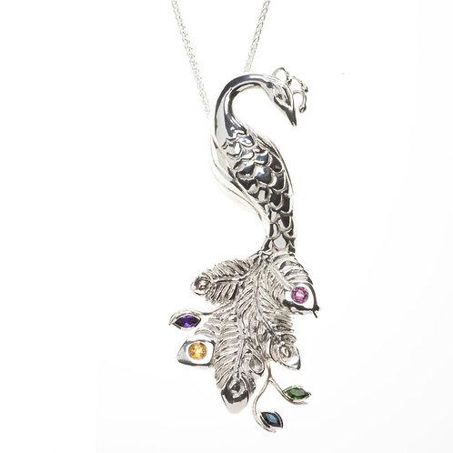 Peacock Elegance Statement Pendant Vanessa Miller Jewellery