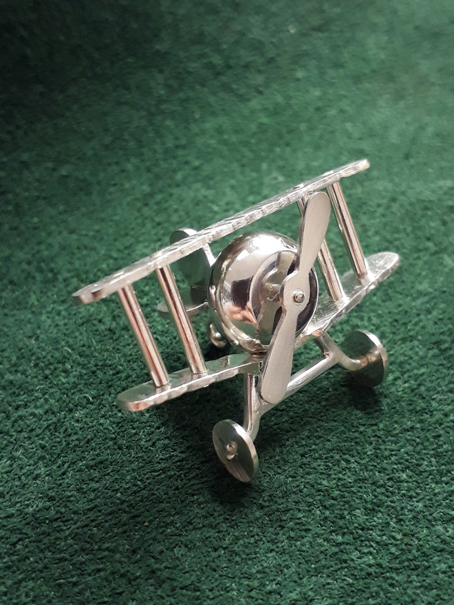 Sterling Silver Biplane Ornament