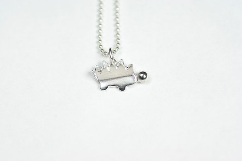Baby Hedgehog Charm Necklace