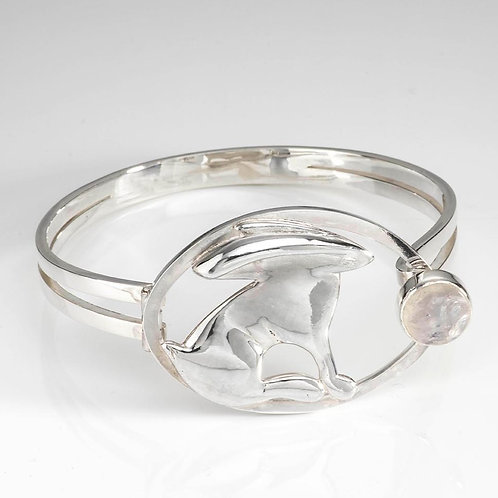 Hare Bangle with Moonstone