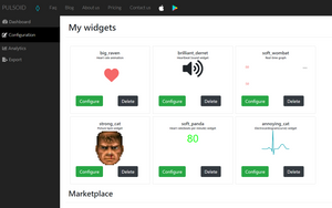 Heart Rate widgets on Pulsoid Configuration page