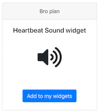 Heart Rate Sound widget Pulsoid