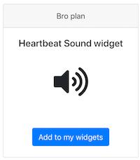 Heart Rate Sound widget Pulsoid