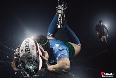 Publicité - rugby - Canal +
