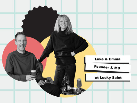 Luke Boase and Emma Heal of Lucky Saint no alcohol beer on pivoting in COVID to avoid losing 70% of