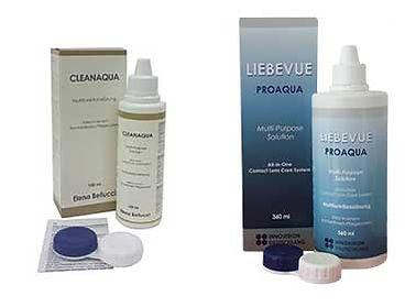 LIEBEVUE und Elena Bellucci Multifunktionslösung zur Pflege für weiche Kontaktlinsen.