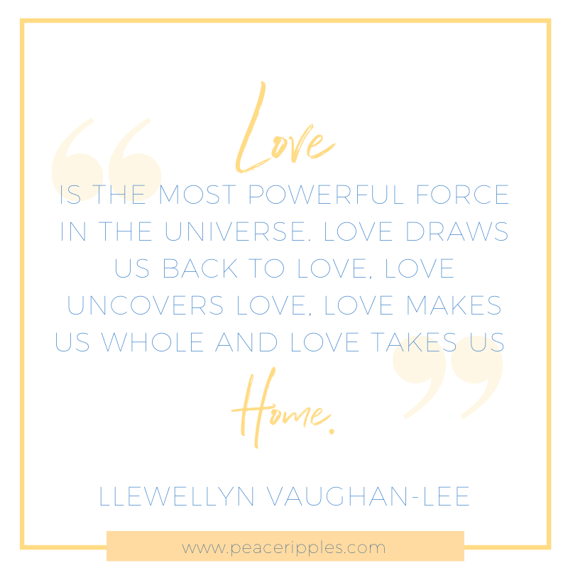 love is the most powerful force quote by Llewellyn Vaughan-lee