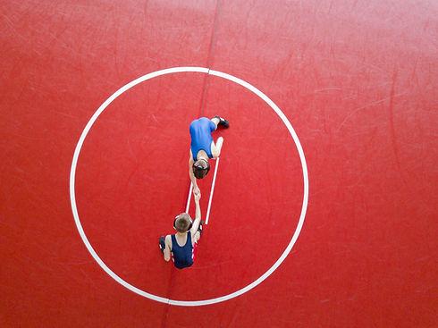 Luftbild von Wrestling Match