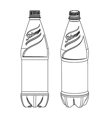 CSD bottle drawing