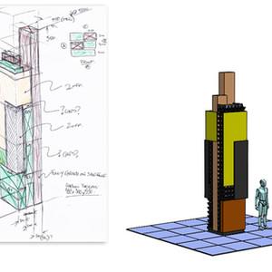 Tree Green Tower model