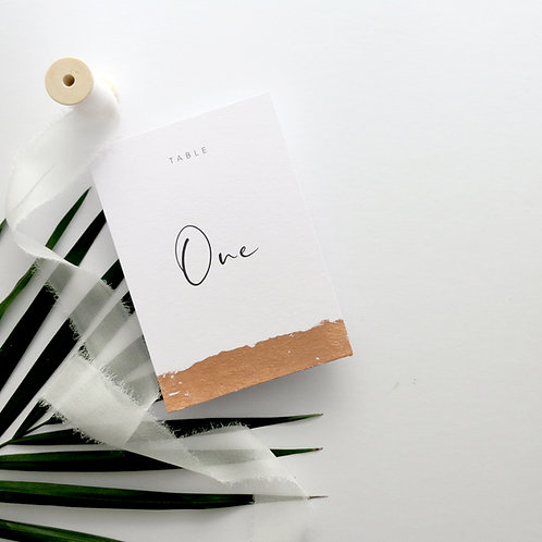Gilded Edge Table Numbers