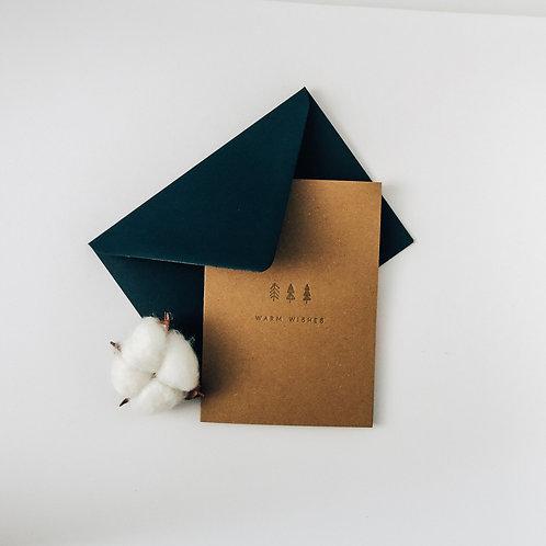 Warm wishes luxury Christmas card