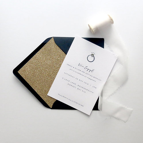 Bling Engagement Party Invitations