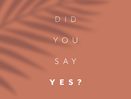 Did You Say Yes?