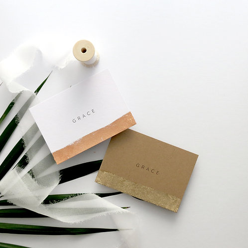 Gilded Edge Place Cards